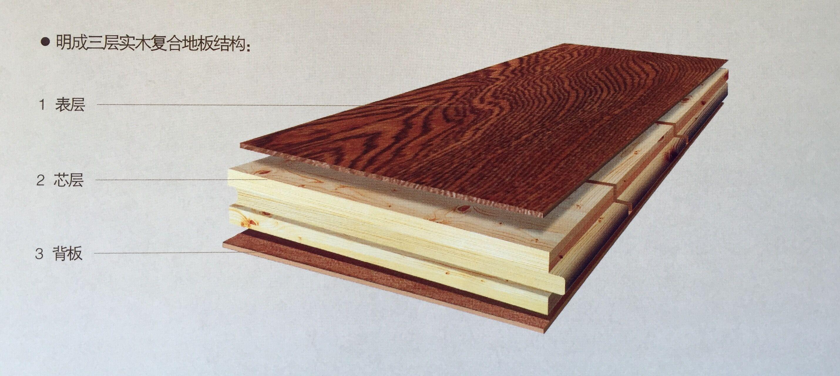 明成三层实木地板的优点